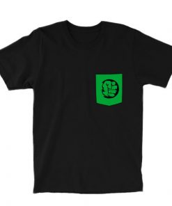 hulk pocket tee black