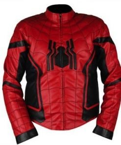 Spiderman Homecoming Red & Black Faux Leather Jacket