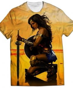 wonder women all over printed t-shirt