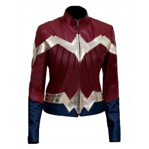 Wonder Woman Faux Leather Jacket